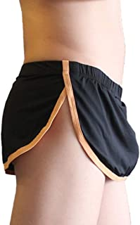 Men's Sexy Pouch Thong G-String Boxer Underwear Panties Home Sleep Shorts