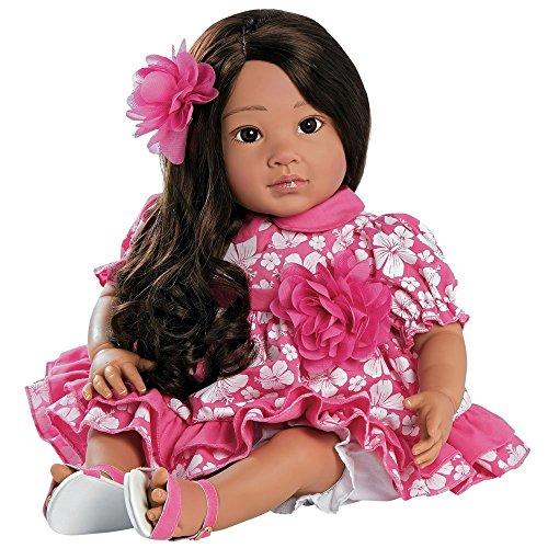 Paradise Galleries Rinascere Bambino Piccolo, Realistico Hawaiano Ragazza Bambola 51 cm Lei Aloha - Morbido Tocco Gentile Vinile
