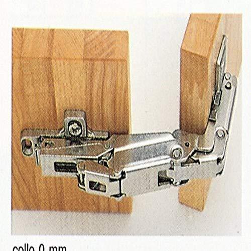 Salice 1 Cerniera C2AFA99A 165 Gradi con BASETTA per Ante Armadio MOBILI Cucina E COLAPIATTI, Argento