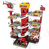 STM32 by ST Car Racing Track Garage, Children's Toy Garage DIY Assembly Garage Parking Lot Toy Boy Child Walker Toy Accessory Set-Track Fire Truck