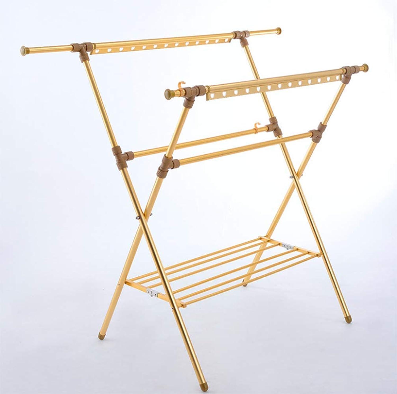 Windproof Hanger FloorAluminum Drying RackFolding Hanger Double PoleRetractable Lifting Drying Rack