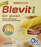 Blevit Plus Sin Gluten, 1 unidad 600grs. Papilla de cereales para bebé elaborada a partir de arroz y maíz. A partir de los 4 meses.