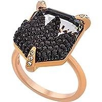 Swarovski Make 18K Rose Gold-Plated Black Clear Crystal Women's Ring (5446240)