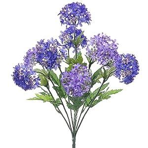 18″ Silk Snowball Flower Bush -Purple/Lavender (Pack of 12)
