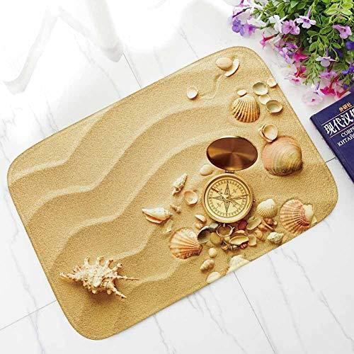 OPLJ Alfombrilla Antideslizante escénica de Playa Impresa para Sala de Estar, Dormitorio, Cocina Lavable, Alfombrillas de baño, Felpudo de Pasillo de Bienvenida A3 40x60cm