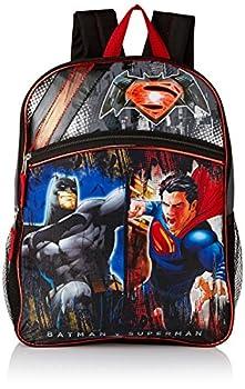 Warner Brothers Boys  Batman Vs Superman Backpack GREY/BLACK 16  X 12  X 5