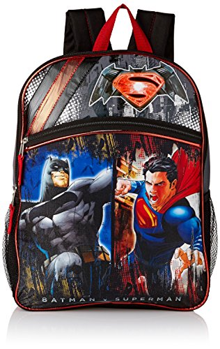 Warner Brothers Boys' Batman Vs. Superman Backpack, GREY/BLACK, 16' X 12' X 5'