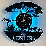 Le Rey Leon - Reloj de pared de vinilo con diseño de león