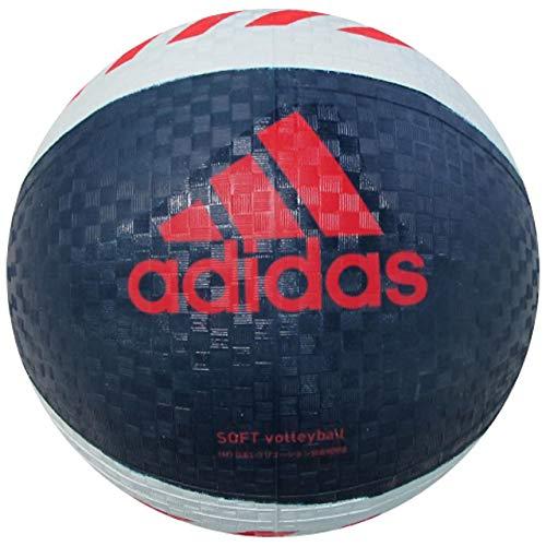 adidas(アディダス) ソフトバレーボール ネイビー×赤 AVSNVR AVSNVR