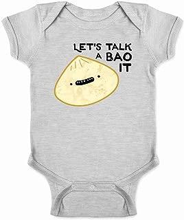 Let's Talk A Bao It Funny Dumpling Cute Food Infant Baby Boy Girl Bodysuit
