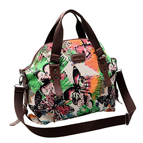 MiCoolker Classic Retro Butterfly Messenger Bag Shoulder Bag Crossbody Purse Bag