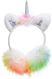 Funbase Kid Girls Fuzzy Unicorn Earwarmer Cat Ear Winter Earmuffs Cartoon Ear Cover