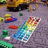 モンテッソーリウッドブロックナンバーパズル磁気釣り、教育ビルディングブロックおもちゃ、シェイプソータースタッキングナンバーカウントゲーム、就学前教育玩具。