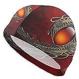 Gorro de natación Unisex con Piedras Preciosas Rojas para Cabello Largo - Gorro de natación Resistente al Agua para Adultos jóvenes