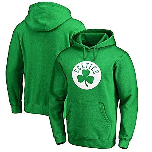 Zxwzzz A Maniche Lunghe con Cappuccio Equitazione Felpa Verde Boston Celtics NBA Felpa con Cappuccio Kelly Irving Uomo (Color : Green, Size : Medium)