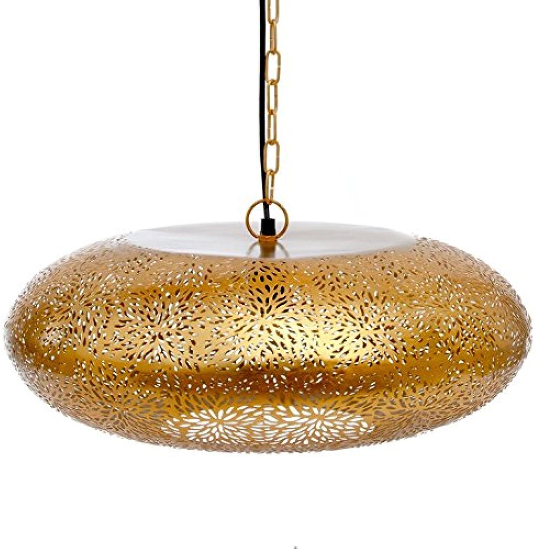 New Marrakesch Marokkanischer Hnge Lampe, Innen, oval handgefertigt Deckenleuchte Lampe, Golden, gro