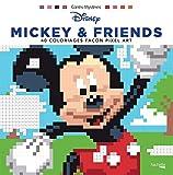 Carrés mystères Disney Mickey & friends: 40 coloriages façon pixel art (Heroes) (French Edition)