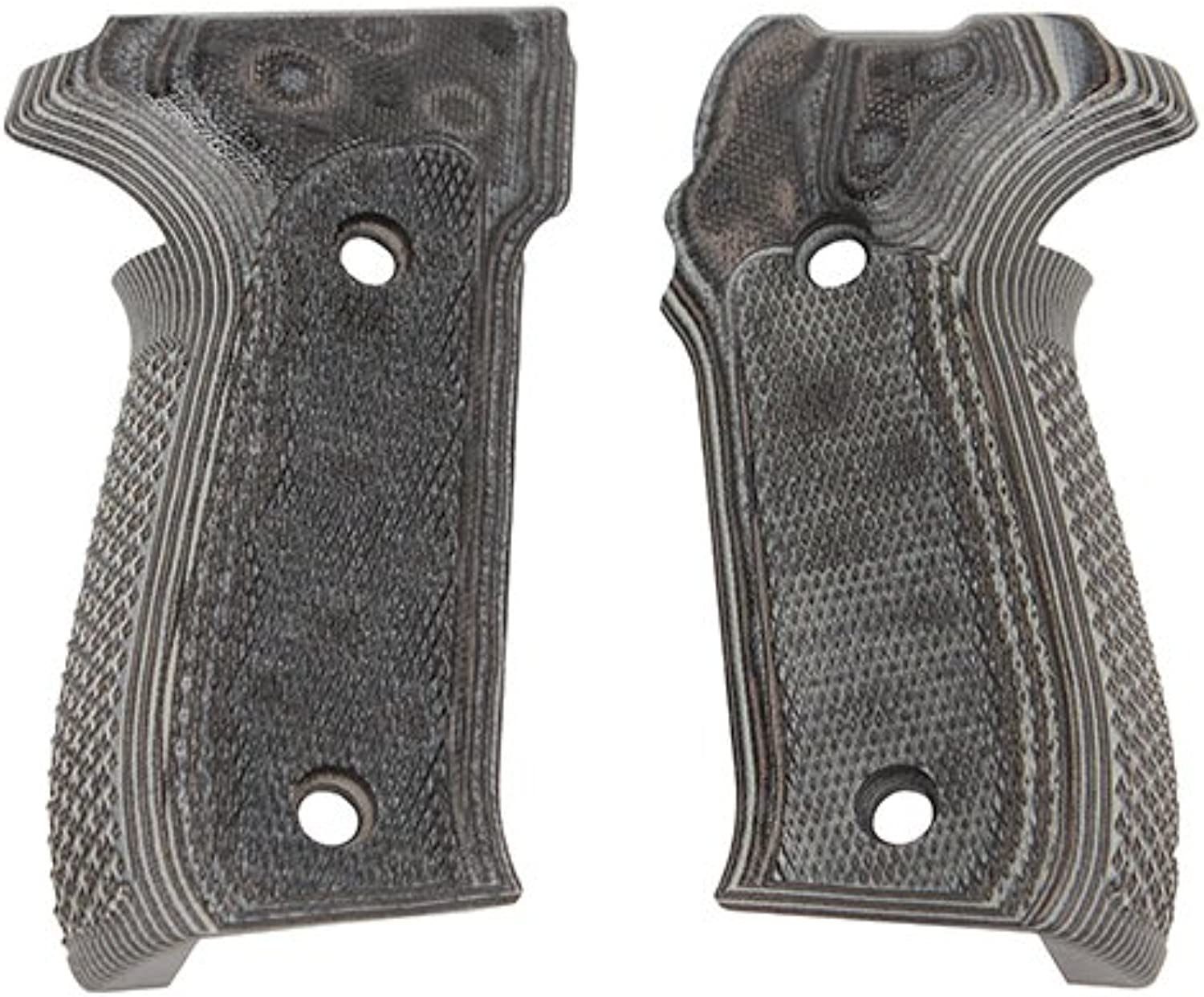 Hogue Sig P226 Grips (Checkered G-10 G-Mascus), Black Grey