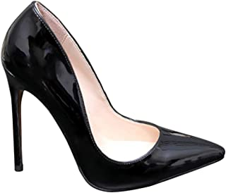 [uirendjsf] エレガント 結婚式 ハイヒール - レディース オールシーズン フォーマル 裁判所の靴 尖った パテントレザー 直接着用 パーティー 絶妙 浅い靴 ハイヒール サイズ 複数の色
