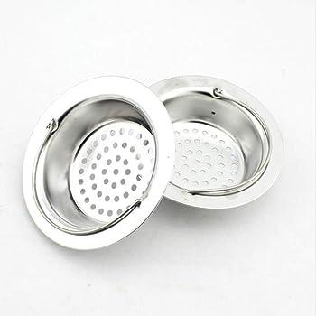 Filtro Desague Fregadero 2PCS Acero Inoxidable Ba/ñera Alcantarilla Colador Adecuadotap/ón de Fregadero para Ba/ño Cocina Residuos de Filtro y Evitar el Bloqueo 9*5.8*2.5cm