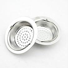 JUNSHUO 2 Stuk Gootsteenzeef RVS, Hoogwaardige Kwaliteit Roestvrijstaal Gootsteen Afvoer Plug voor de Keuken, Spoelbak - W...