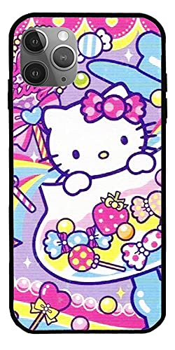 Hülle Kompatibel mit iPhone XS MAX Hello Kitty Süße 3D-Figur Cartoon Pure Clear Glass Phone Cases Cover Ganzkörper