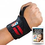 321 STRONG Wrist Wraps 14' Professional Grade with Thumb Loops - Wrist Support Braces for Men & Women - Weight Lifting, Xfit, Powerlifting, Strength Training
