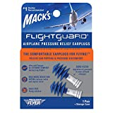 Mack's Flightguard Airplane Pressure Relief Earplugs – 26dB NRR...