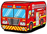 Kiddie Play Fire Truck Pop Up Play Tent for Kids Boys & Girls Indoor Outdoor Playhouse Toy