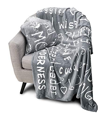 Blankiegram Mother Throw Blanket for Loving, Kind & Inspiring Moms | The...