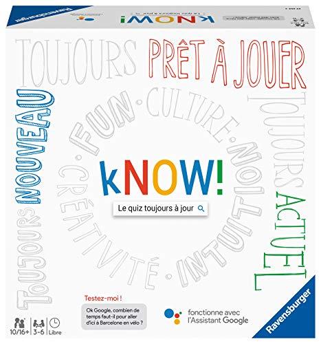 Ravensburger - Know! - Gesellschaftsspiel – Quiz-Spiel zum Spielen mit Freunden oder der Familie – 27253 – französische Version – für 3 bis 6 Spieler – ab 10 Jahren