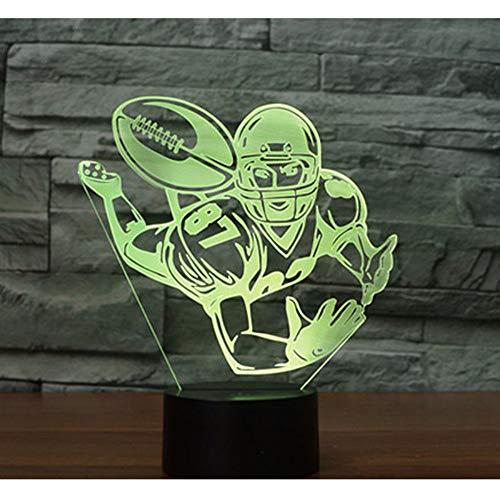 3D LED Nachtlicht Rugby American Football mit 7 Farben Licht für Heimtextilien Lampe Erstaunliche Visualisierung Optisch