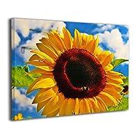 壁キャンバス アートワーク 30x40cm Sunflower Sky ひまわりの空 ポスター おしゃれ インテリア 壁の絵 飾り絵 アートフレーム アートパネル おしゃれ お風呂の装飾 キャンバスアート アート油画 パネル ャンバス Framed Painting