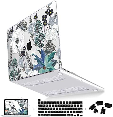 Mektron for MacBook Pro 16 inch Case 2020 2019 Release A2141 Retro Florals Plastic Hard Cover product image