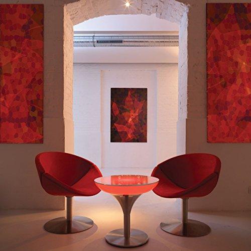 Lounge M Accu LED Pro Table de Bar-Taille: 45 cm x 60 cm x 60 cm