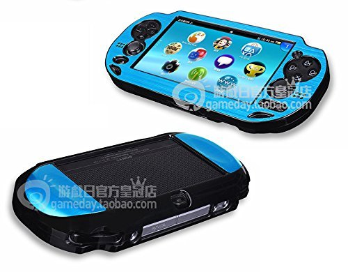 Szjay Metal Aluminum Metallic Protection Hard Case Cover for Playstation Ps Vita 1000 (Sky Blue)