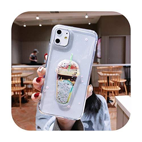 Custodia trasparente glitterata per iPhone 11 Pro Max X XR Xs Max 3D Summer Drink Dynamic Quicksand Cover per iPhone 6s 7 8 Plus-Starbucks-per iPhone 6 6s