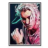 Swarouskll Edgy Justin Bieber Giclée Poster Giclée Druck