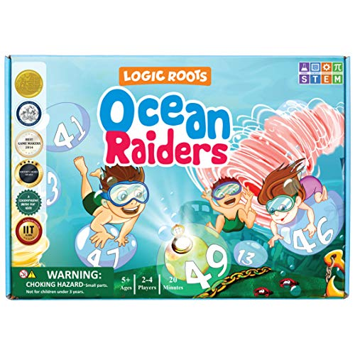 Logic Roots Ocean Raiders Number Sequencing amp Addition Game  Fun Math Board Game and STEM Toy for 5  7 Year Olds Perfect Educational Gift for Kids Boys amp Girls Home Schoolers Kindergarten amp Up