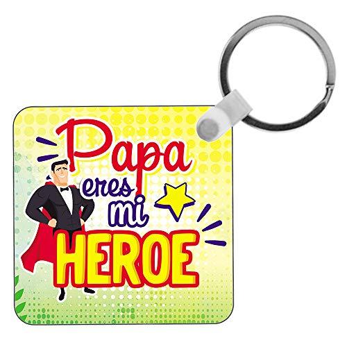 Kembilove Llavero para Padre – Regalos Originales para Hombre – Llaveros para Padre con Mensaje Papá Eres mi Super Héroe – Regalos Originales para Regalar el día del Padre