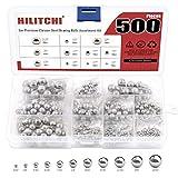 Hilitchi 500 Pcs 11 Size SAE Precision Bearing Steel Ball Assortment Loose Bicycle Bearing...