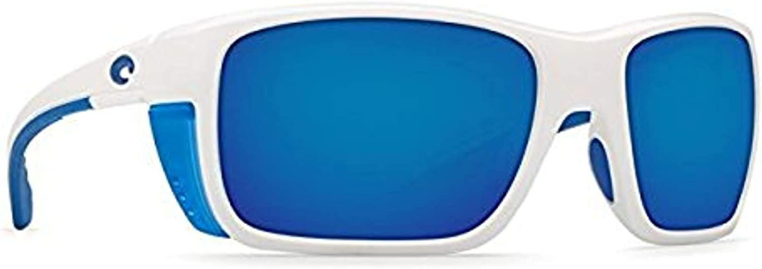 Costa Del Mar Rooster 580P Rooster, Matte Black bluee Mirror, bluee Mirror