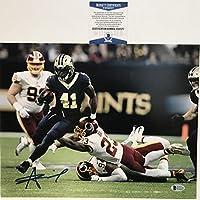 Autographed/Signed Alvin Kamara New Orleans Saints 11x14 Football Photo Beckett BAS COA #2