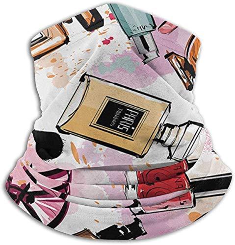 NR Girly Kosmetik und Make-up-Thema Muster mit Parfüm und Lippenstift Nagellack Pinsel Moderne...