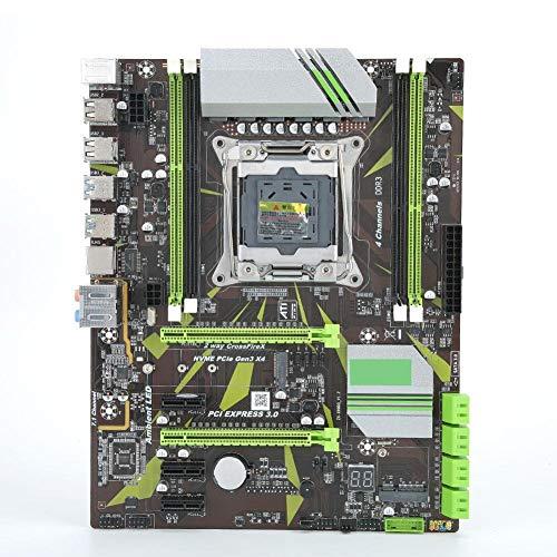 Pusokei Placa Base de computadora para Intel X99, LGA 2011-3 Ranura de CPU para Xeon V3 e i7, Memoria DDR3, 4 * DDR3 DIMM/2 * PCI-E × 16/3 * Ranura PCI-EX1, 5 * USB/8 * SATA3.0/1*M.2 Interfaz PCIE