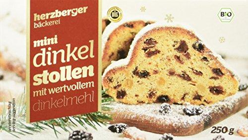 herzberger Mini Dinkel Stollen, 5er Pack (5 x 250 g)