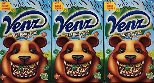 3x 380g Venz Beer Hagelslag Melk & Vanille