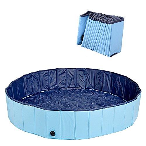 Kaka Mall Piscina Per Cani GattI Bambini Grandi Medi Piccoli Pieghevole Comodo Vasca Cane Facile Da Pulire E Da Svuotare Per Bagno Nuotare Giocare Vacanza (M, 120 X 30 Cm)