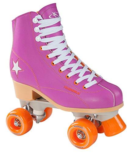Hudora Disco Rollerskates Unisex Rollschuh, Lila/Orange, 39, 13175