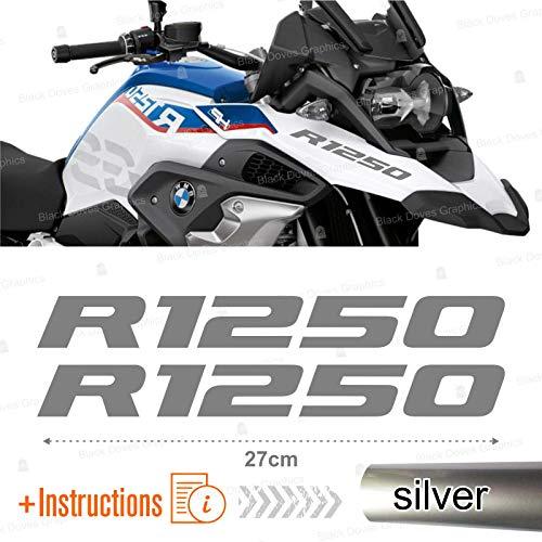 Black Doves Graphics 2pcs Aufkleber R1250 kompatibel für Motorrad BMW R1250 GS R 1250 HP Adventure (Geld)